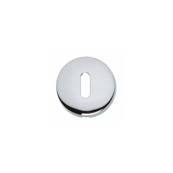 Rozet met sleutelgat bol rond verdekt chroom