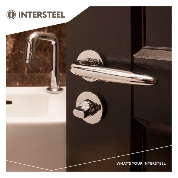Rozet toilet-/badkamersluiting rond verdekt kunststof chroom 8 mm
