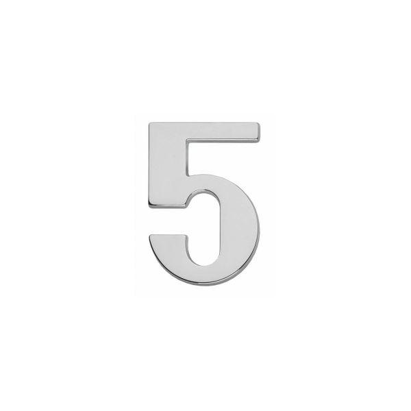 Huisnummer 5 chroom