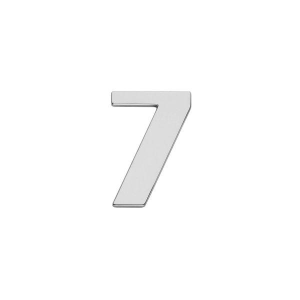 Huisnummer 7 chroom