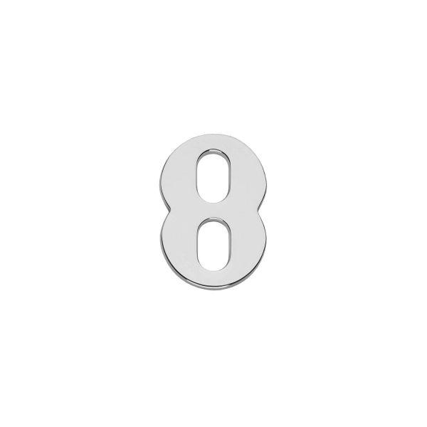 Huisnummer 8 chroom