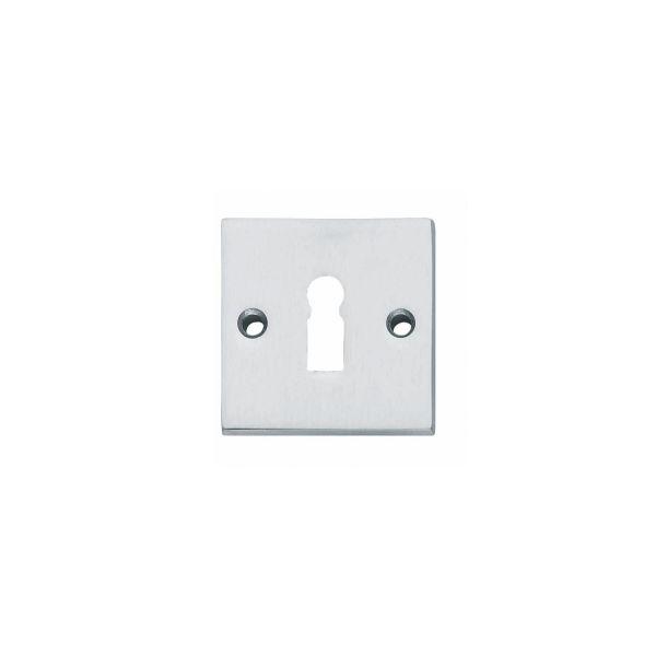 Rozet sleutelgat vierkant chroom mat