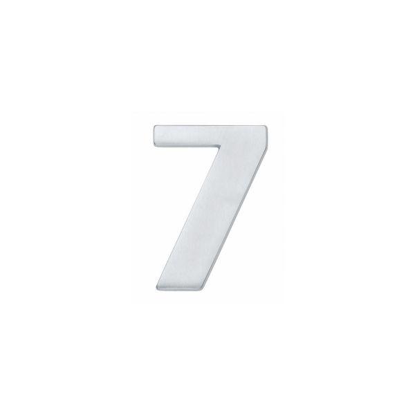 Huisnummer 7 chroom mat