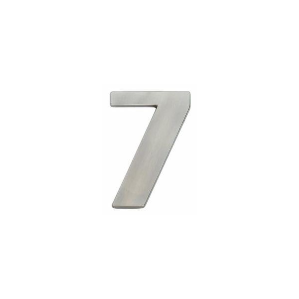 Huisnummer 7 nikkel mat