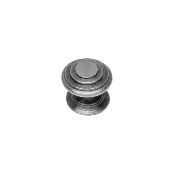 Meubelknop rond punt ø 35 mm oud grijs