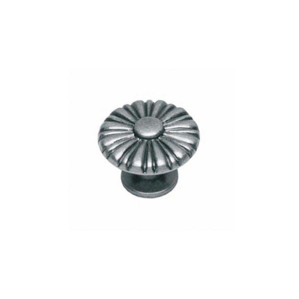 Meubelknop rond zon ø 25 mm oud grijs