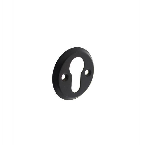 Rozet profielcilindergat schroefgat mat zwart