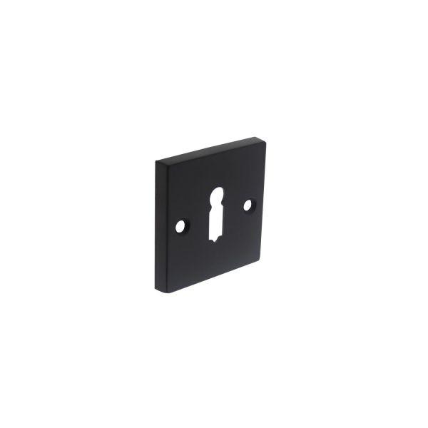 Rozet sleutelgat vierkant groot mat zwart