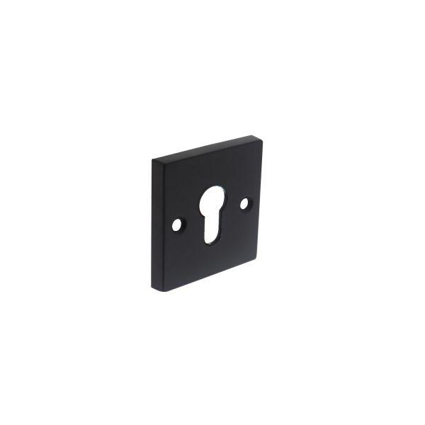 Rozet profielcilindergat vierkant groot mat zwart