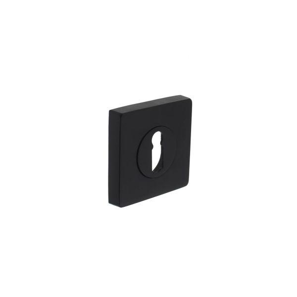Rozet sleutelgat vierkant mat zwart