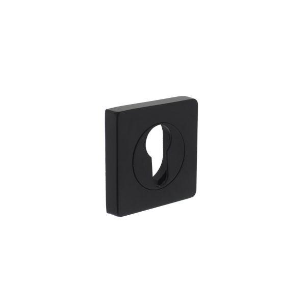 Rozet profielcilindergat vierkant verlengd mat zwart