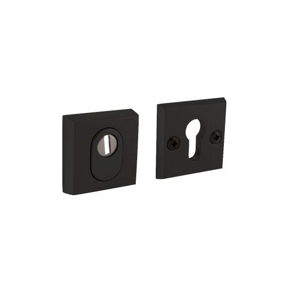 Veiligheidsrozet SKG3 vierkant met kerntrekbeveiliging aluminium zwart