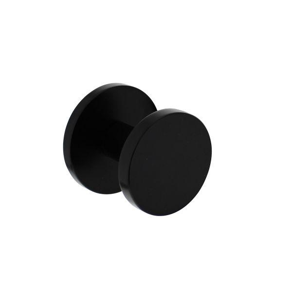Voordeurknop rond Ø55 mm éénzijdige montage aluminium zwart
