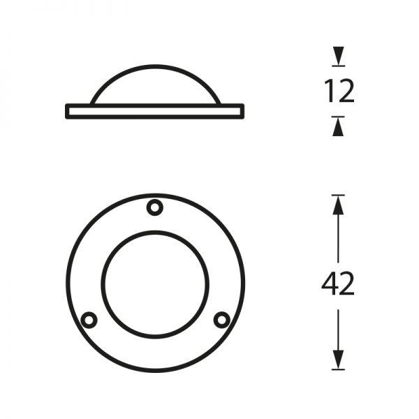 Afdekplaatje voordeurknop mat zwart