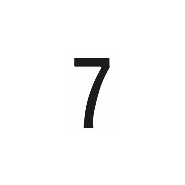 Huisnummer 7 rvs mat zwart