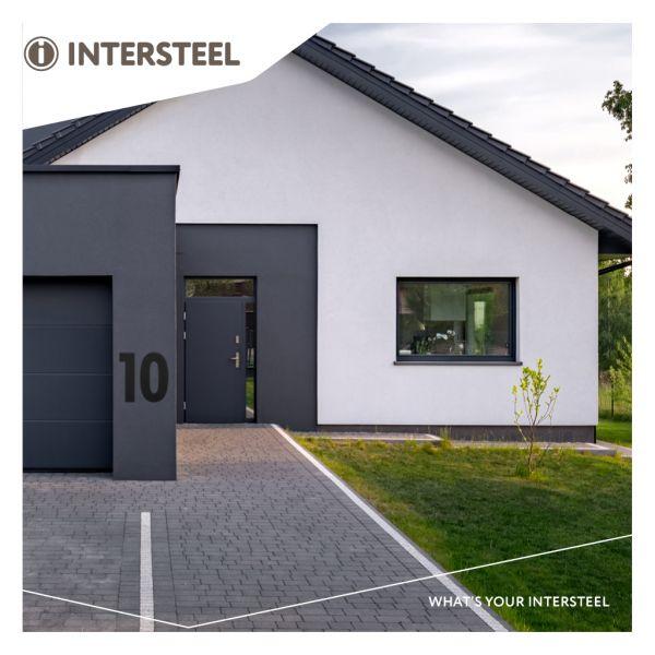 Huisnummer 9 XXL hoogte 50 cm rvs/mat zwart