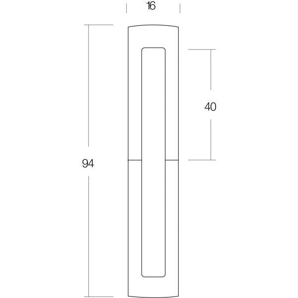 Sierhuls 40/40 mm mat zwart