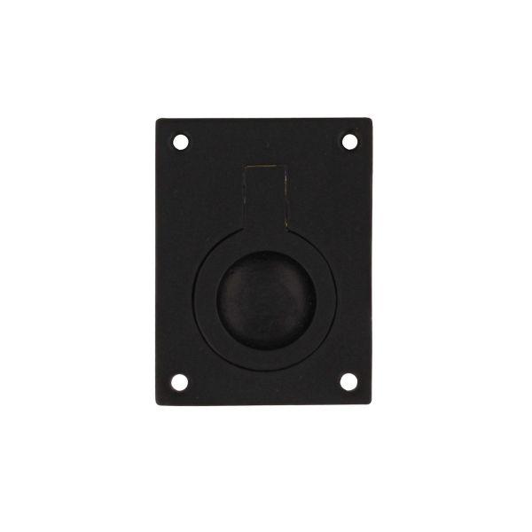 Luikring rechthoekig 65 x 49 mm mat zwart