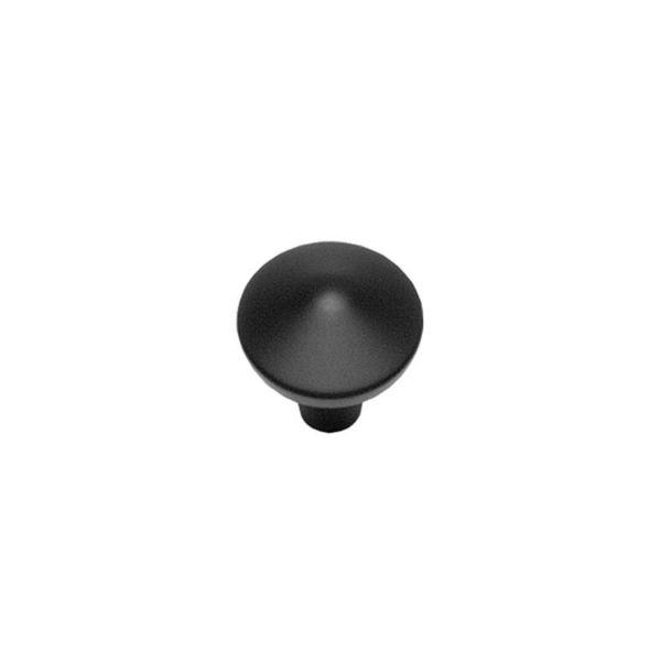 Meubelknop ø 25 mm mat zwart