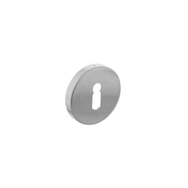 Rozet sleutelgat rond verdekt rvs geborsteld