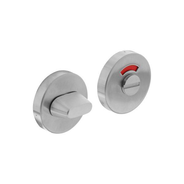 Rozet toilet-/badkamersluiting rond verdekt rvs geborsteld 8 mm