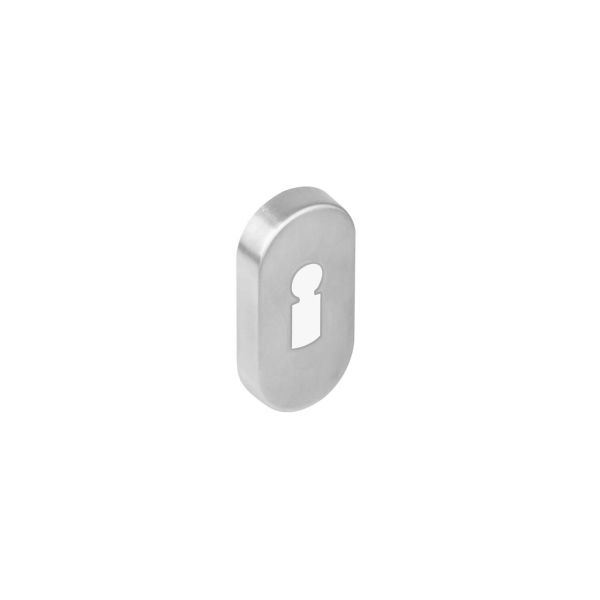 Rozet sleutelgat ovaal verdekt rvs geborsteld 10 mm