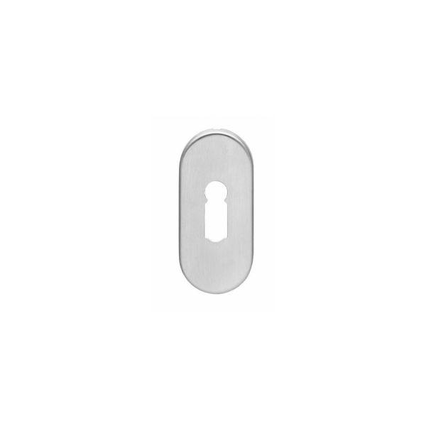 Rozet sleutelgat ovaal verdekt rvs geborsteld 4 mm