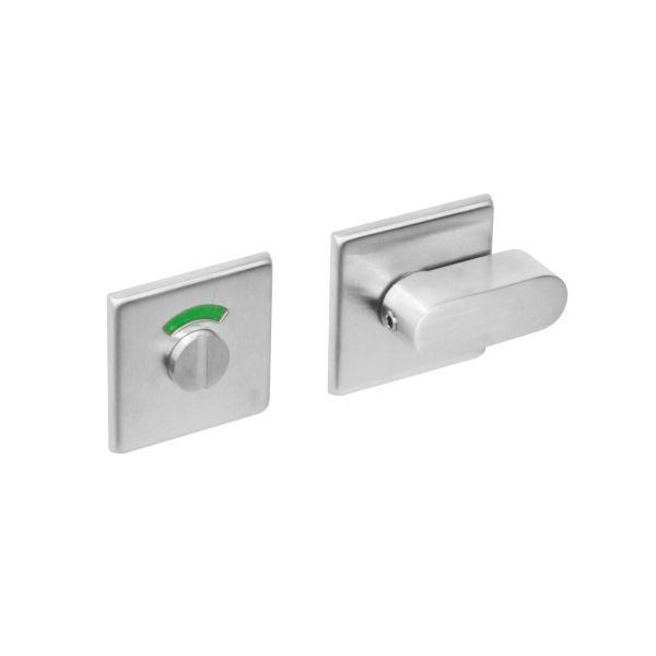 Rozet toilet-/badkamersluiting vierkant rvs geborsteld