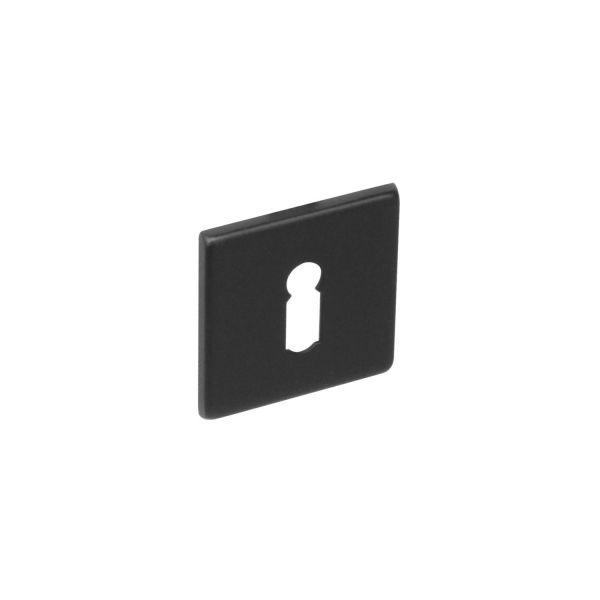 Rozet sleutelgat vierkant rvs geborsteld mat zwart