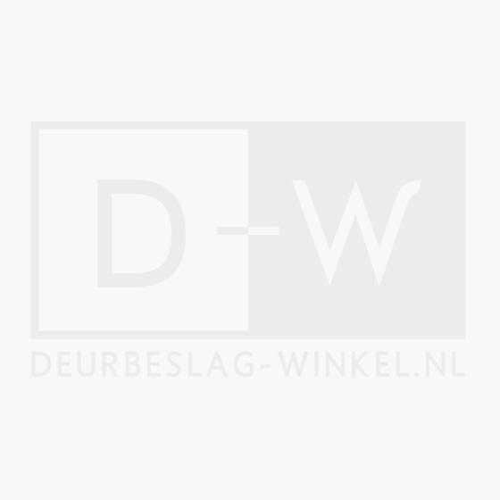 Rozet toilet-/badkamersluiting vierkant rvs geborsteld mat zwart