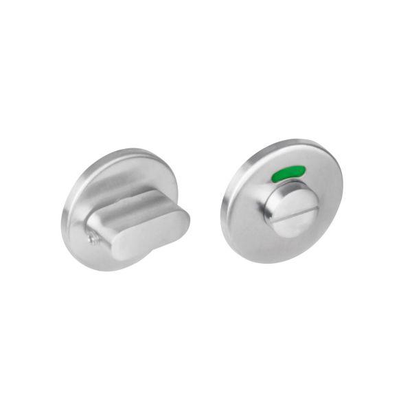 Rozet toilet-/badkamersluiting rond rvs geborsteld 8 mm