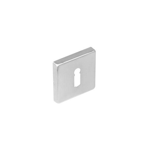 Rozet vierkant met sleutelgat rvs geborsteld