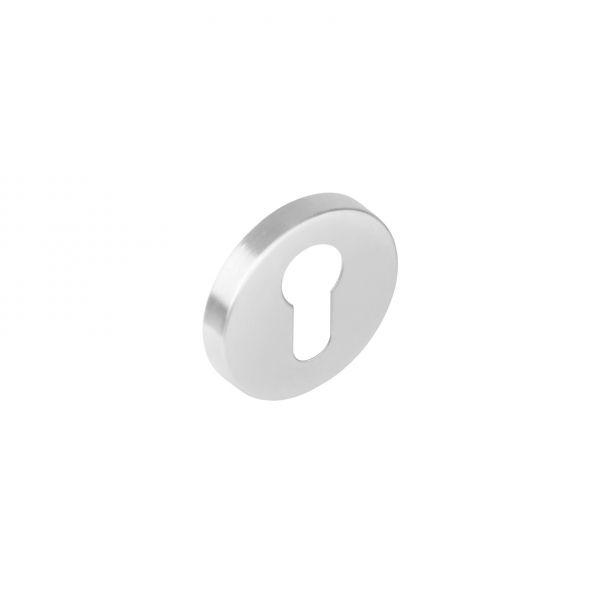 Rozet profielcilindergat rond nokken rvs geborsteld 53mm