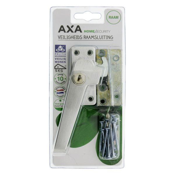 Axa raamsluiting plat model met nok/cilinderslot, rechts, type 3319, SKG* 74 x 30 mm aluminium f1