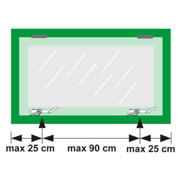 Axa raamuitzetter Axaflex, type 2660, SKG**, wegdraaibaar/afsluitbaar Roestvast staal