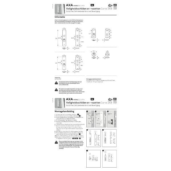AXA Cillinderrozet rond SKG3 anti-kerntrekbeveiliging F1